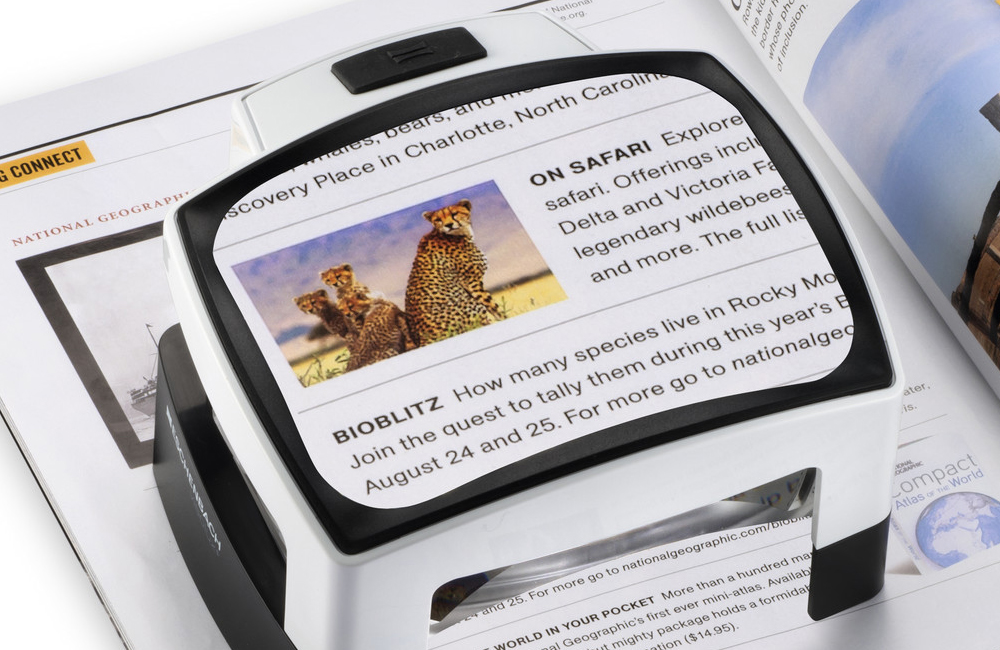 Stand Magnifiers to aid people with low vision