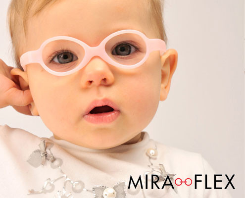 Miraflex children's frames available at Whitehouse Optometrists.