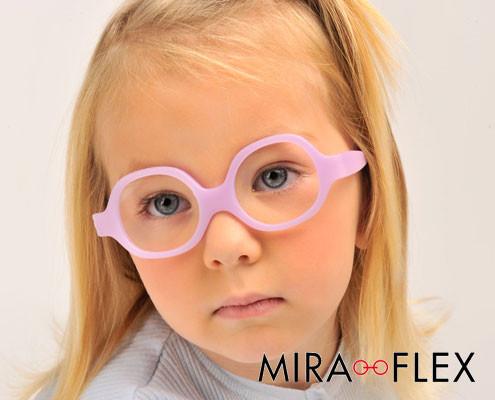 Miraflex children's frames available at Whitehouse Optometrists.